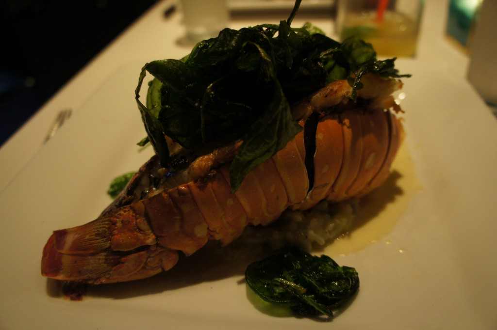 Lobster entree at Coco Blue