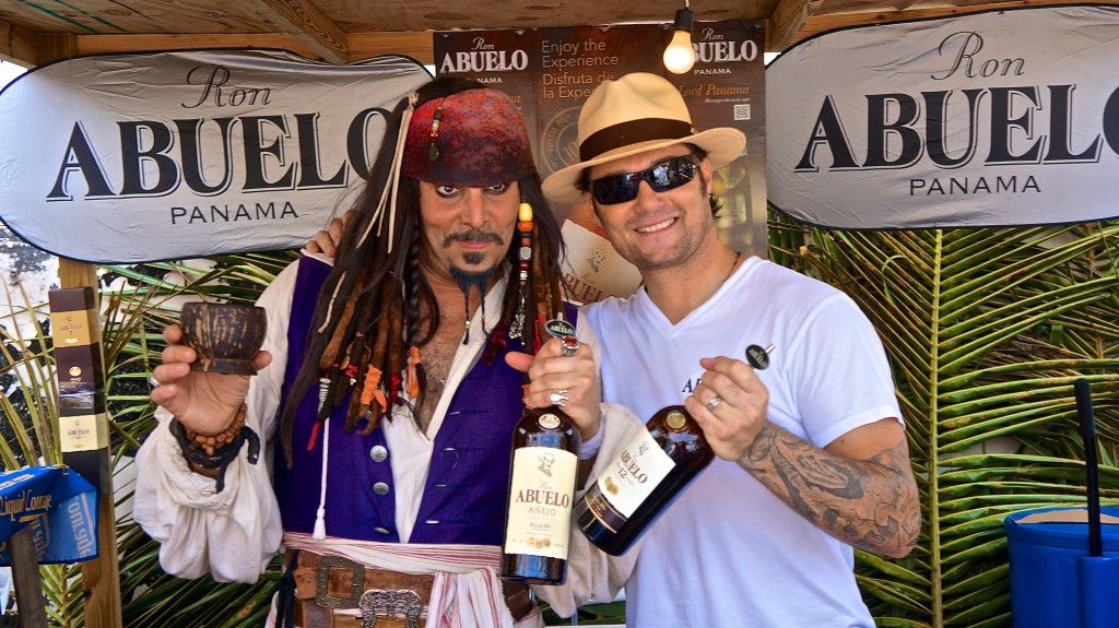 Capt'n Jack and Mr. Rum Abuelo at Festival Rum Bahamas 2015