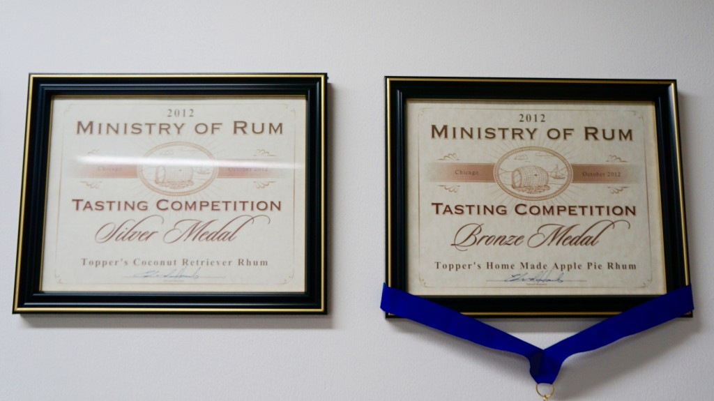 Award winning Topper's Rhum