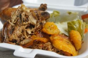 Fall off the bone chicken from Michele's Jerk Out
