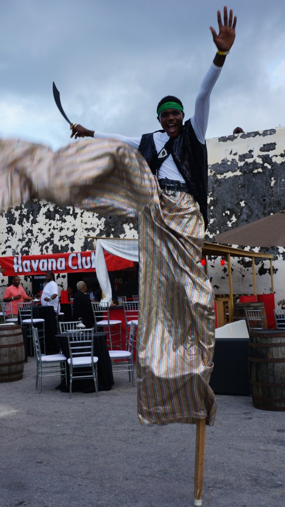 Stilt walker at Rum Festival Bahamas 2015